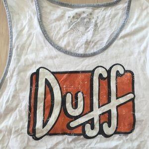 14b3bdb155417 Universal Studios Shirts - Duff Beer The Simpsons Official Men Tank Top Sz  XL